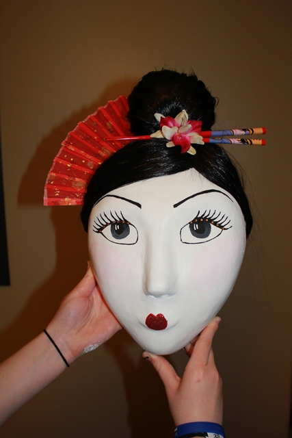 How To Make A Geisha Mask Once Upon A Prairie