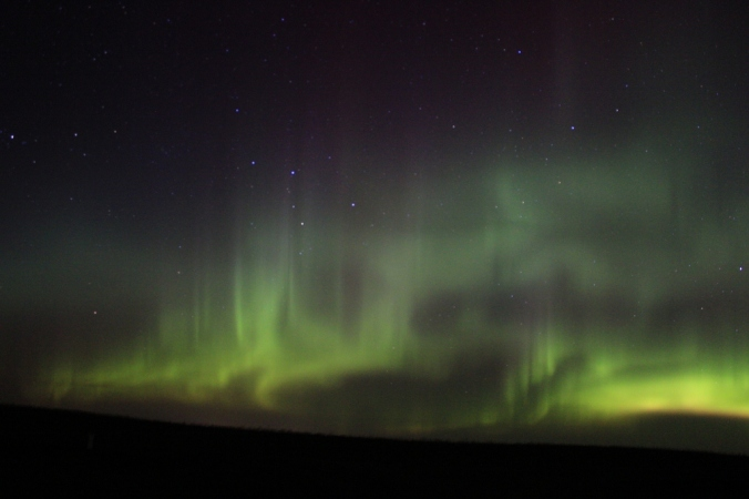 Epic night of aurora borealis in March.