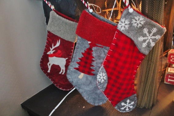 This wasn't planned- the red, flannel, grey, deer, woodland theme....it just morphed...over several years.